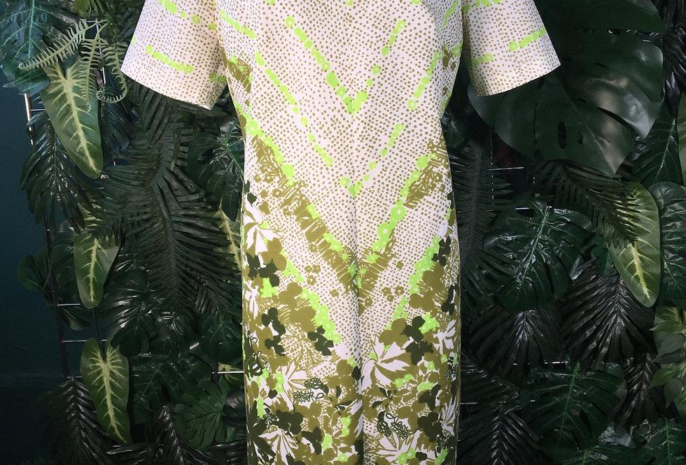 50s style botanic dress