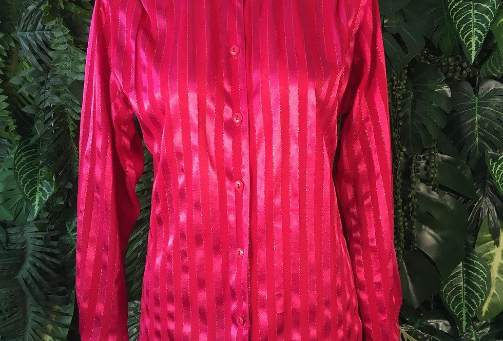 Pink striped shimmer shirt