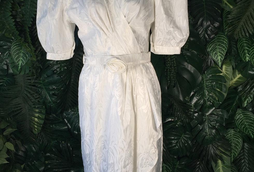 Sixth Sense white brocade party dress (size 8)