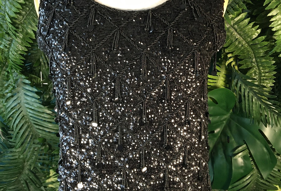 Beaded Sequin Flapper Blouse (M)