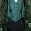 Thumbnail: 80s green & black dress