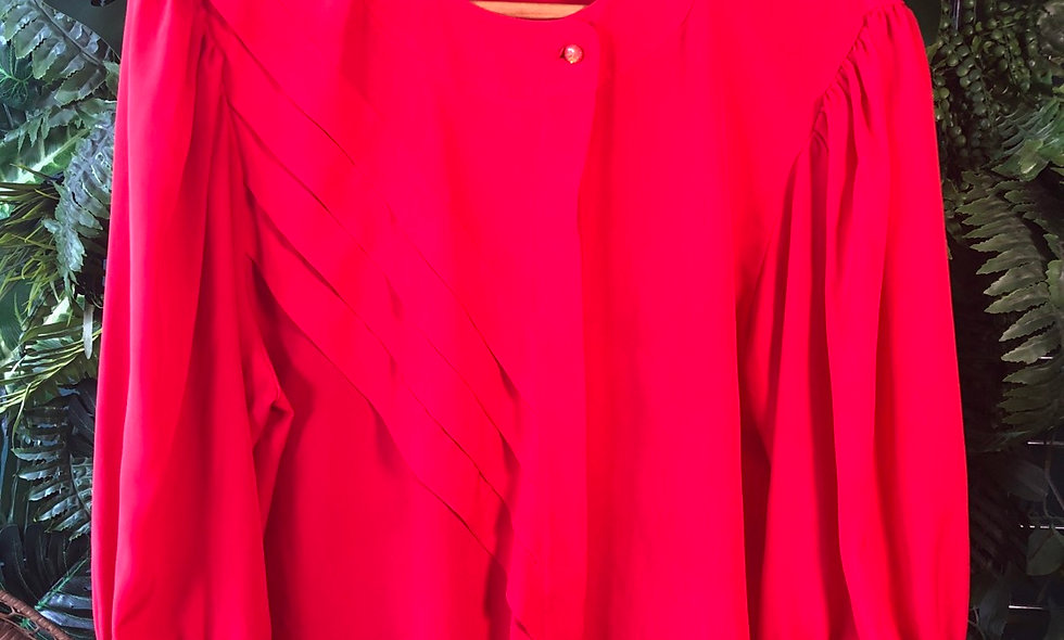 Sportive red blouse