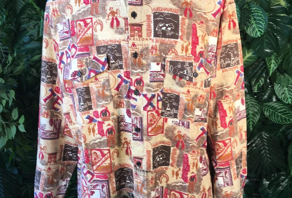Klemon Mode printed 90s shirt (L)