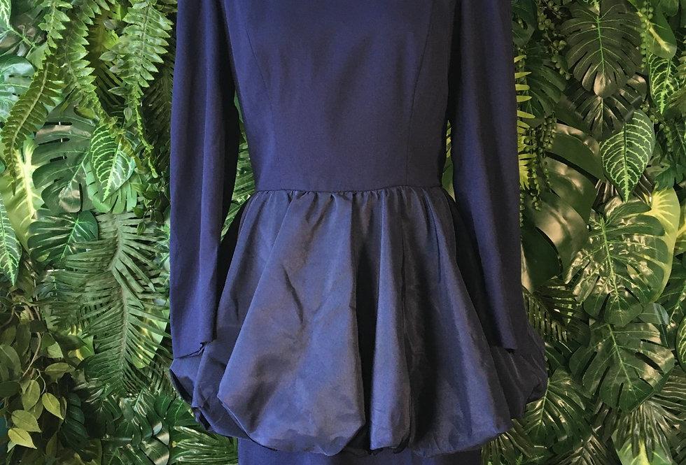 Navy peplum dress (size 12)