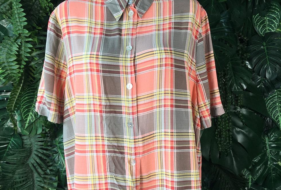 Plaid blouse (size 18)