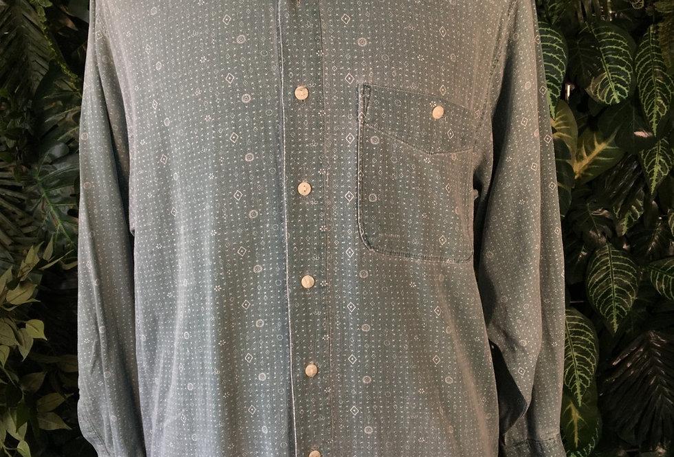 Geometric pattern shirt (M)
