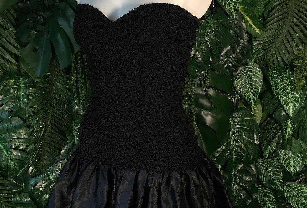 Satin ruffle tube dress (size 12)