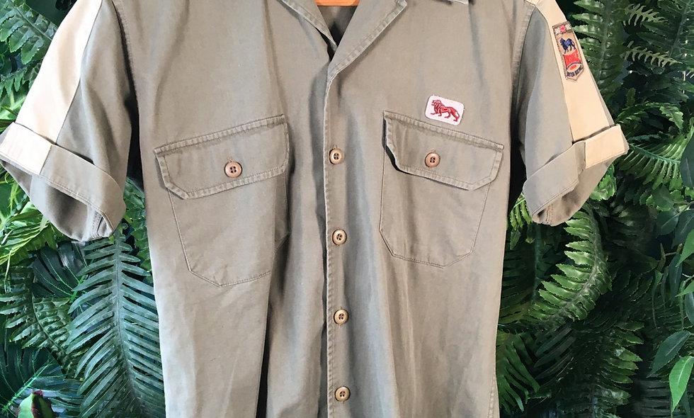 Lonsdale Short Sleeve Khaki Shirt