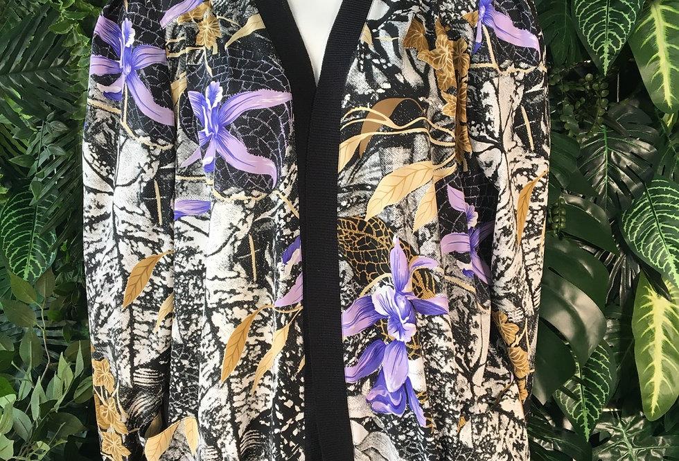 Lightweight floral jacket (size 16)