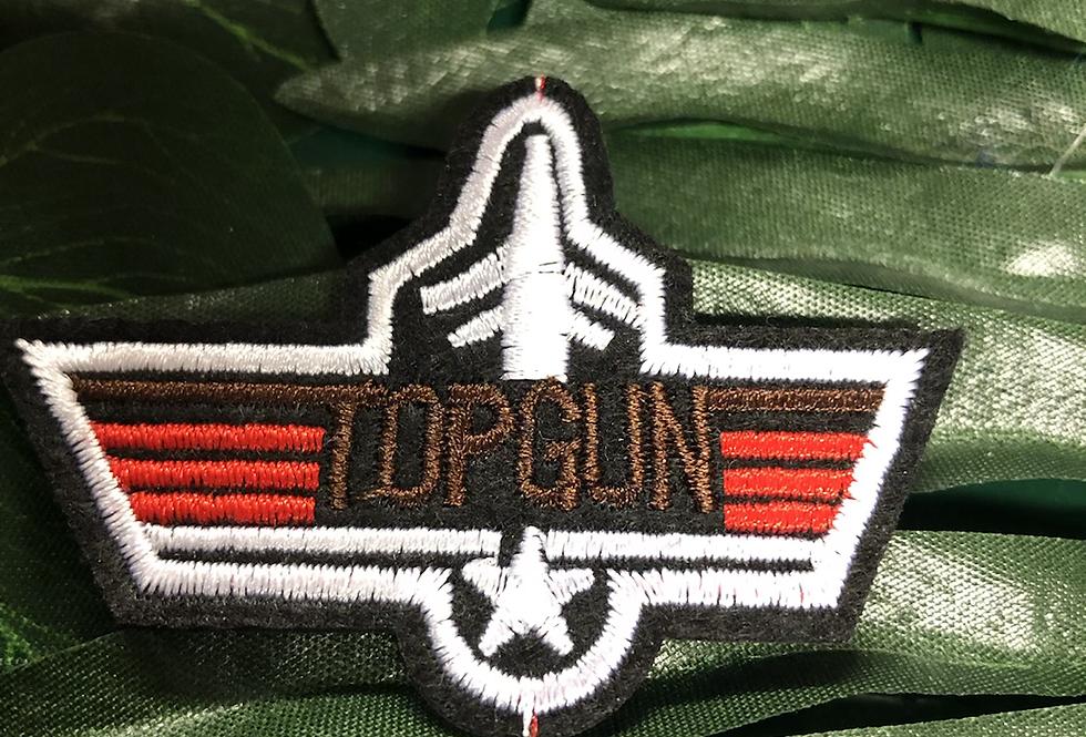 Top gun ion on badge small