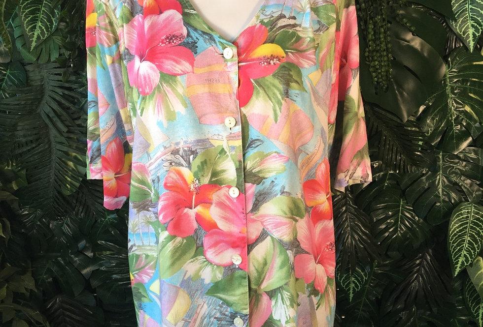 Tropical blouse (L)