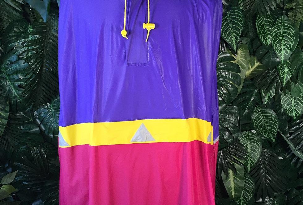90s colour block poncho (XL)