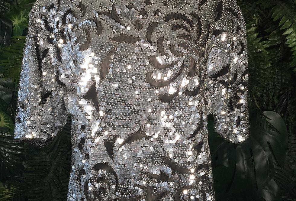 Iris silver sequin blouse