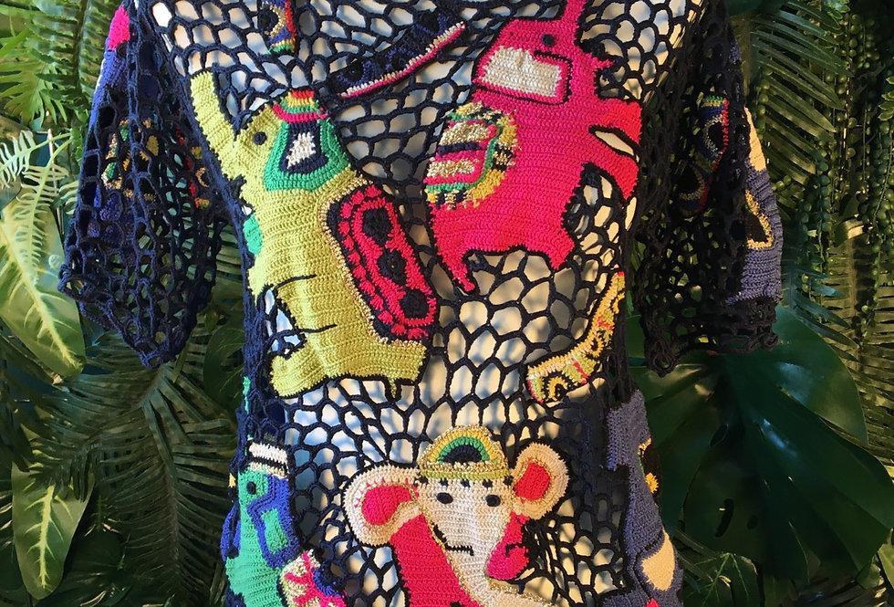 Malia Maglia elephant crochet tee