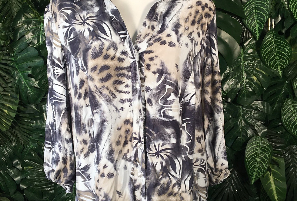 Printed abstract blouse (size  20)