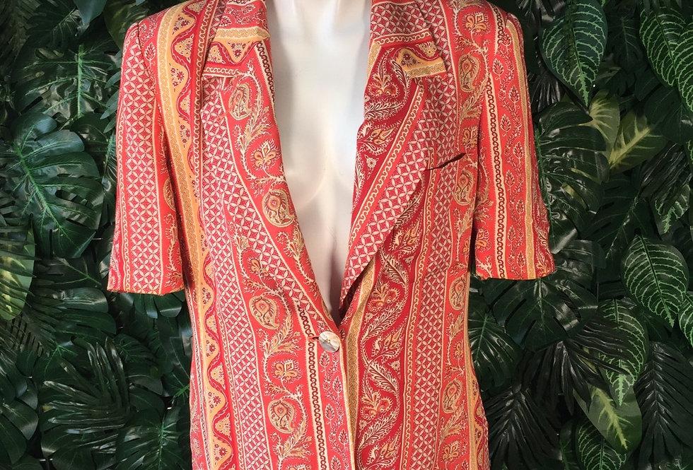 Laurel graphic half sleeve blazer (size 38)