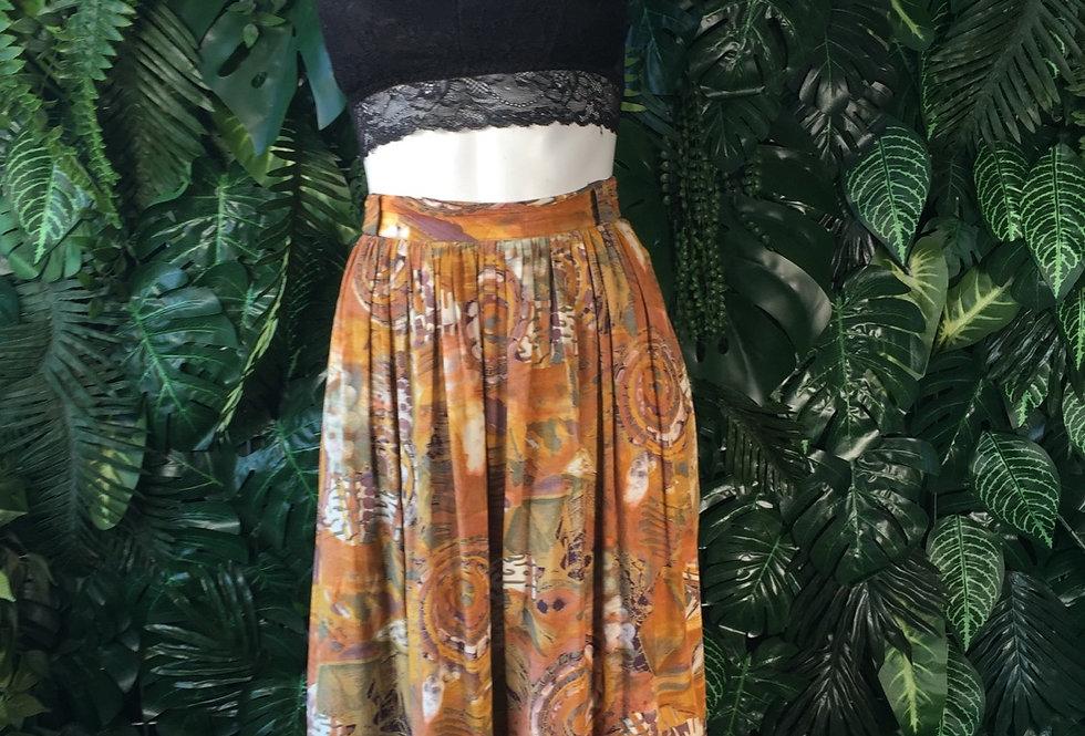 Abstract print skirt (size 42)