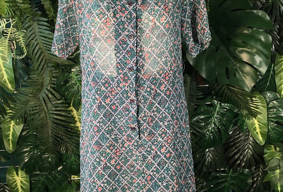 Semi sheer 60s style dress