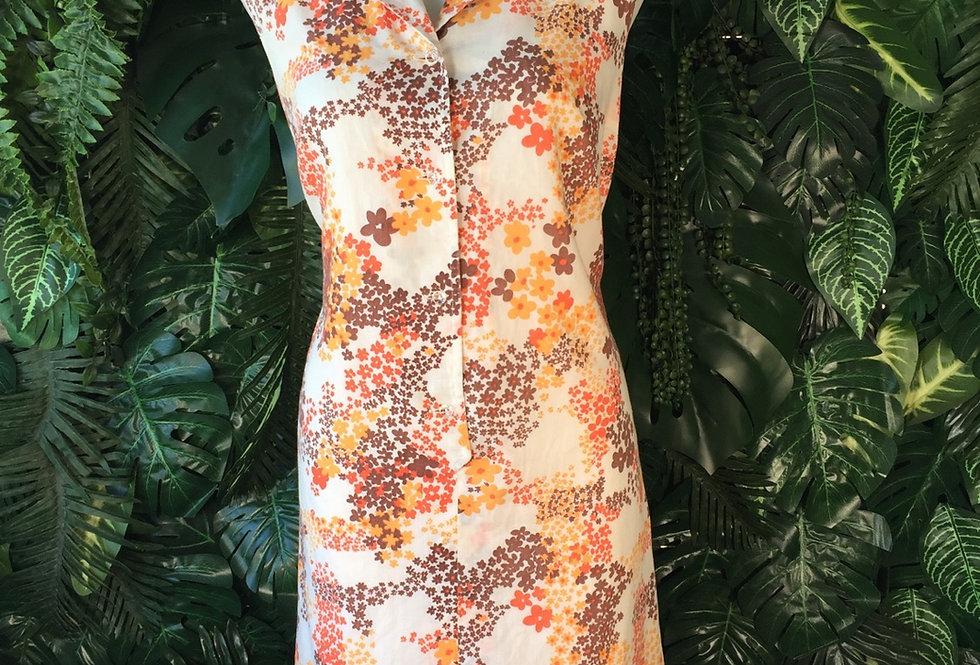50s floral shirt dress (size 14)