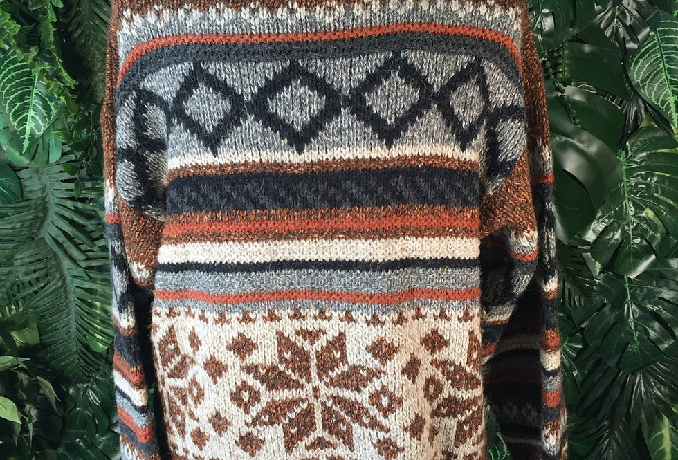 Handmade roll neck sweater (L)