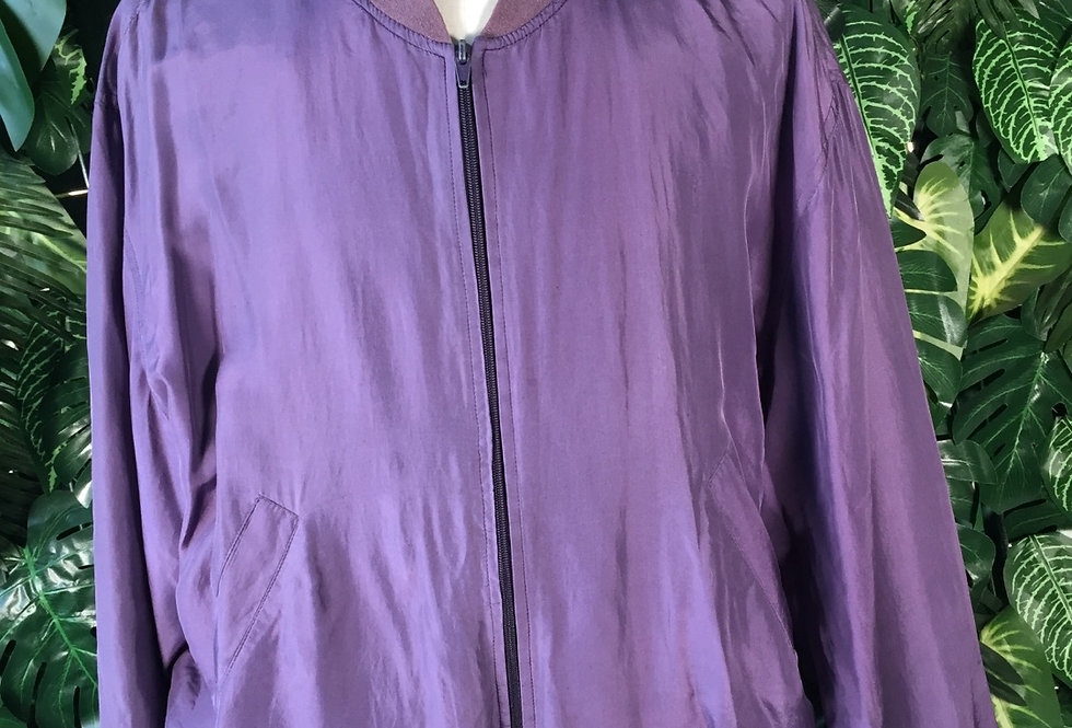 Purple silk bomber (M)