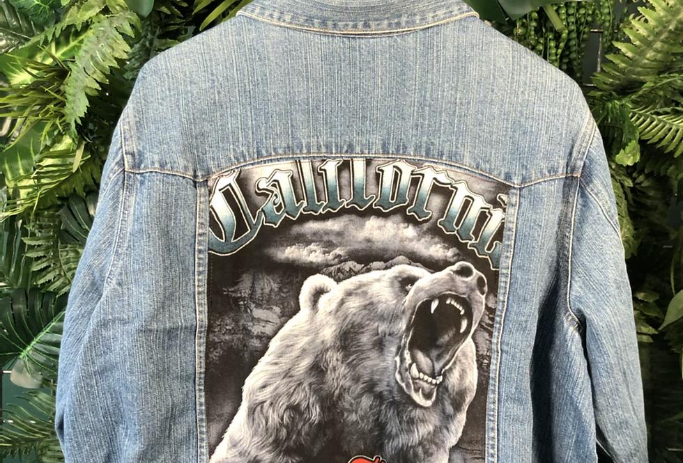 California bear denim jacket