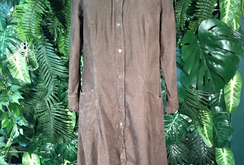 Ann Taylor Loft corduroy shirt dress