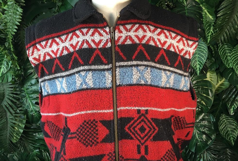 Aztec fleece gilet (M)