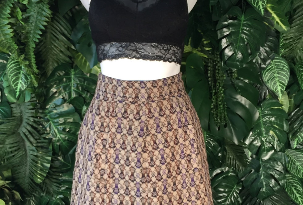 Woven graphic skirt (size 40)