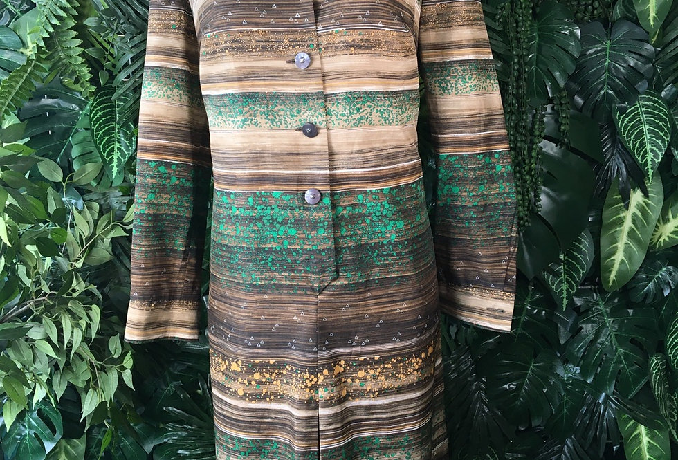 1970s shirt dress (size44)