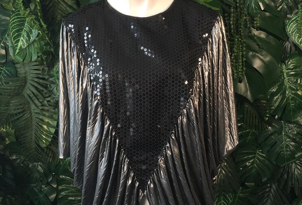 West German vintage bat wing sequin blouse (size 40)