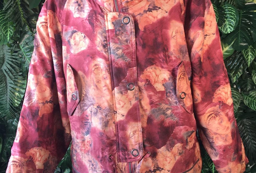 Cherub print ski jacket