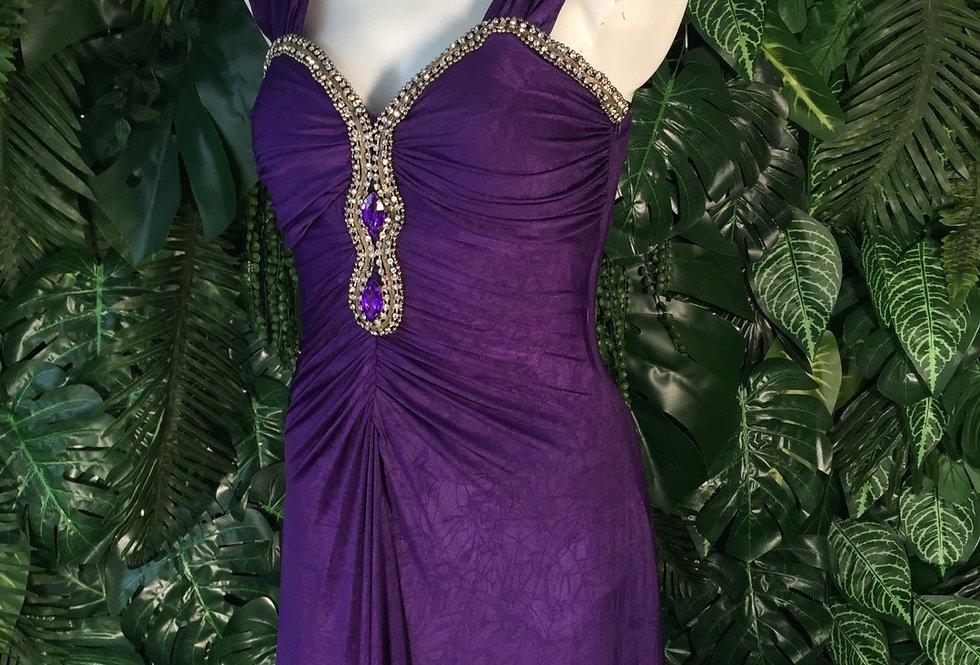 Fantazim embellished purple gown (size  12)