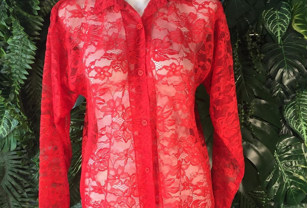 Floral lace blouse (size 12)