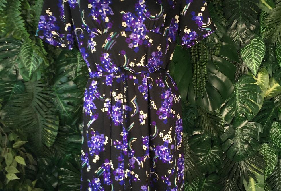 Purple blossom dress (size 14)