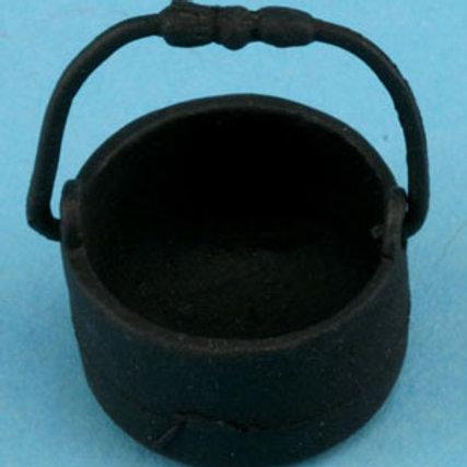 Black Flat Bottom Pot