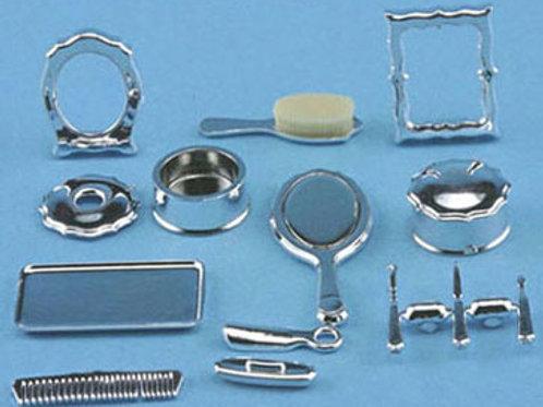 Dresser Set-Silver