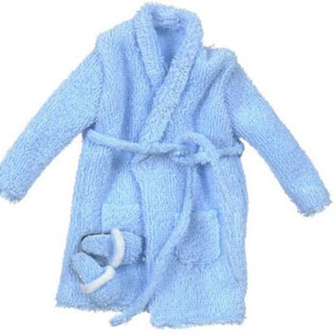 Bathrobe with Slippers-Blue