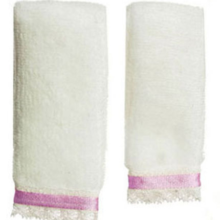 Towel Set-White & Purple