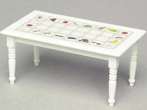 Table with Fruit Design