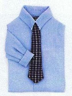 Men's Shirt with Tie-Blue