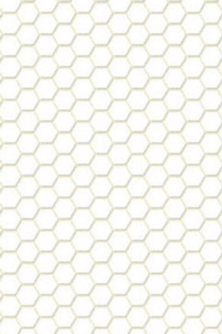 Tile-White Hexagon