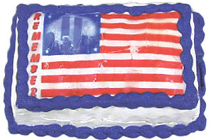 Cake with Twin Towers Flag