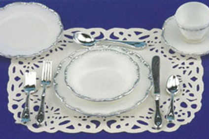Place Setting-Silver Trim