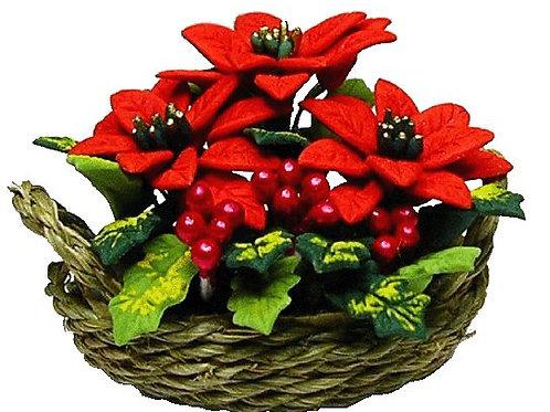Poinsettias in Basket