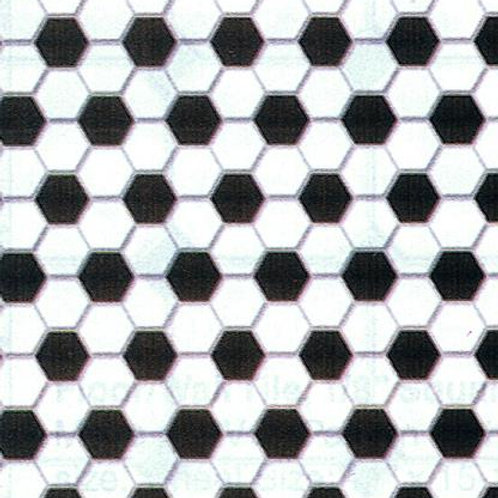 Tile-Black & White Hexagon-MH5914
