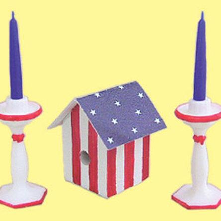 Birdhouse with Candlesticks
