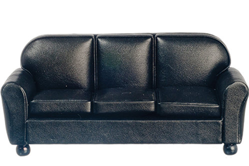 Leather Sofa-Black