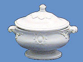 Soup Tureen-White