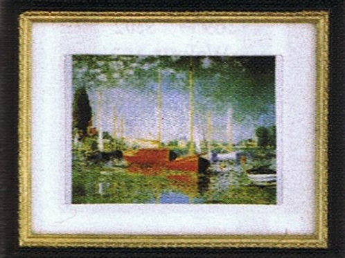 Painting-Sailboats in Harbor